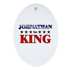 JOHNATHAN for king Oval Ornament