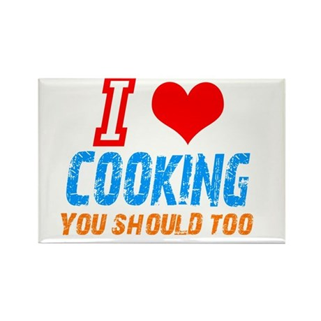 I love Cooking Rectangle Magnet (100 pack)