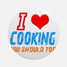 I love Cooking Ornament (Round)