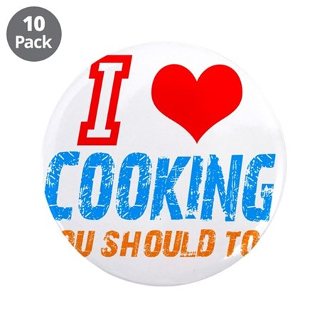 """I love Cooking 3.5"""" Button (10 pack)"""