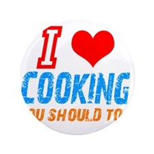 """I love Cooking 3.5"""" Button (100 pack)"""