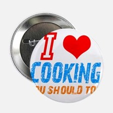 "I love Cooking 2.25"" Button"