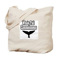 """Whale Tail Connoisseur"" Tote Bag"