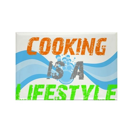 Cooking is a lifestyle Rectangle Magnet (10 pack)