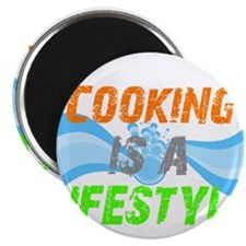 """Cooking is a lifestyle 2.25"""" Magnet (10 pack)"""