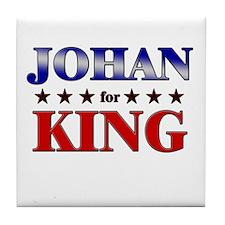 JOHAN for king Tile Coaster