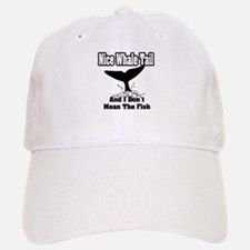 """Nice Whale Tail, And I Don't Mean The Fish"" Baseball Baseball Cap"