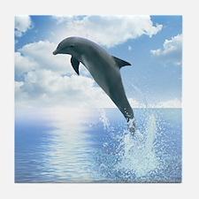 Daybreak Dolphin Tile Coaster