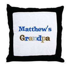 Matthew's Grandpa  Throw Pillow