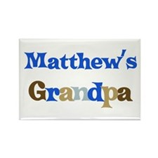 Matthew's Grandpa Rectangle Magnet