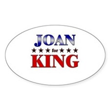 JOAN for king Oval Decal