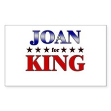 JOAN for king Rectangle Decal