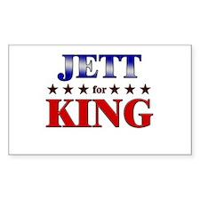 JETT for king Rectangle Decal
