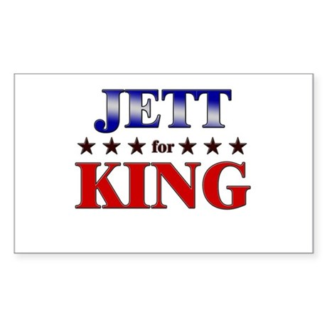 JETT for king Rectangle Sticker