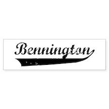 Bennington (vintage) Bumper Bumper Sticker