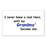 MY GRANDMA'S A HERO Rectangle Sticker