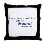 MY GRANDMA'S A HERO Throw Pillow
