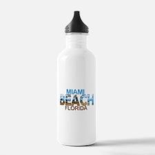 Summer miami beach- fl Water Bottle