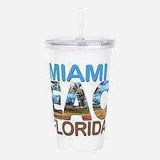 Summer miami beach- fl Acrylic Double-wall Tumbler