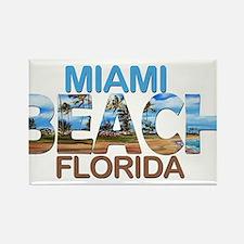 Summer miami beach- florida Magnets