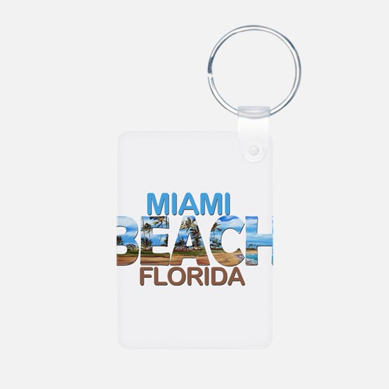 Summer miami beach- florida Keychains