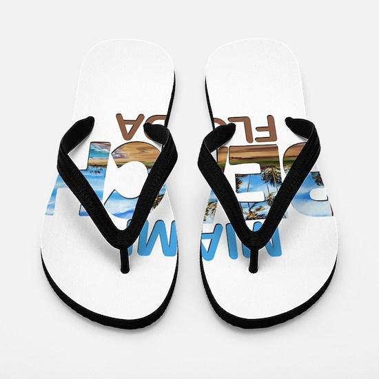 Summer miami beach- florida Flip Flops