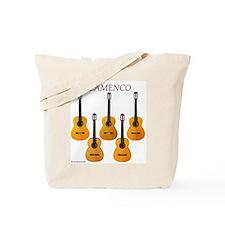 Flamenco guitar tote bag for music or wine