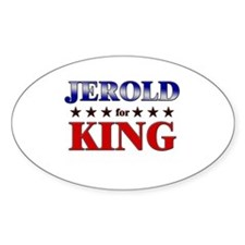 JEROLD for king Oval Decal