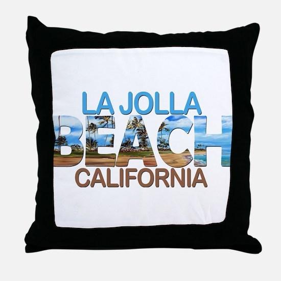 Summer la jolla shores- california Throw Pillow