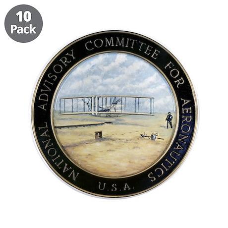 """Vintage NACA Seal pre NASA 3.5"""" Button (10 pack)"""