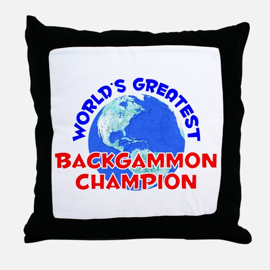 World's Greatest Backg.. (E) Throw Pillow