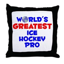 World's Greatest Ice H.. (A) Throw Pillow
