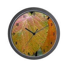 Big Fall Leaf Wall Clock