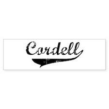 Cordell (vintage) Bumper Bumper Sticker