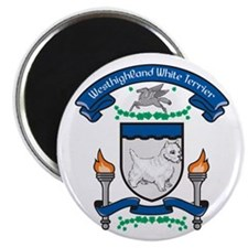Westhighland White Terrier Coat Of Arms Magnet