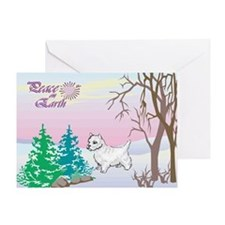 Peace On Earth Westie Greeting Card