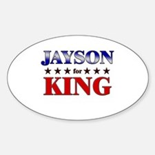 JAYSON for king Oval Decal