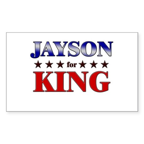 JAYSON for king Rectangle Sticker
