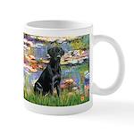 Lilies (#2) & Black Lab Mug