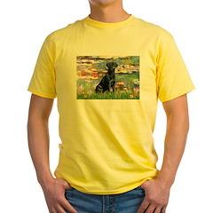 Lilies (#2) & Black Lab Yellow T-Shirt