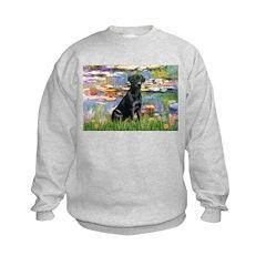 Lilies (#2) & Black Lab Sweatshirt