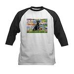 Lilies (#2) & Black Lab Kids Baseball Jersey