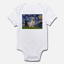 Starry Night Yellow Lab Infant Bodysuit