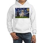 Starry Night Yellow Lab Hooded Sweatshirt
