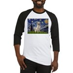 Starry Night Yellow Lab Baseball Jersey