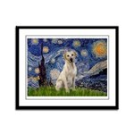 Starry Night Yellow Lab Framed Panel Print