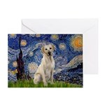 Starry Night Yellow Lab Greeting Card