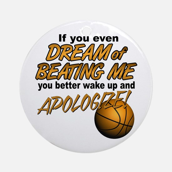 Basketball Dreaming Ornament (Round)