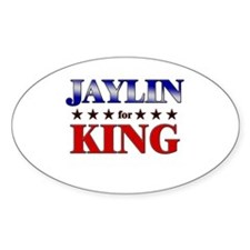 JAYLIN for king Oval Decal