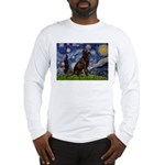 Starry Chocolate Lab Long Sleeve T-Shirt